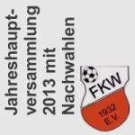 Artikelbild - FKW Jahreshauptversammlung