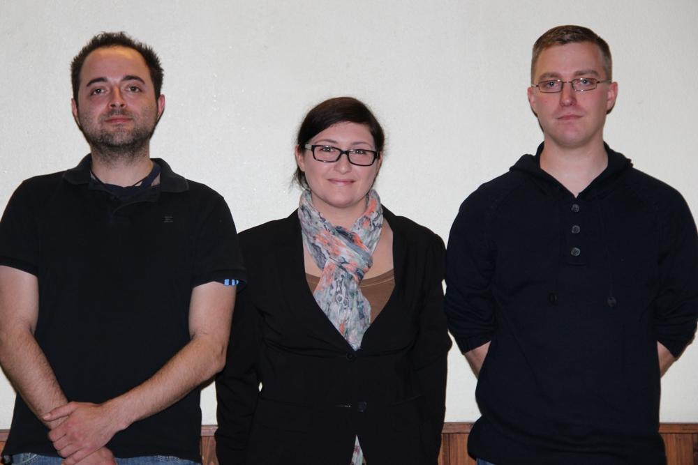 Astrid Bißbort mit Sascha Kaufmann (links) und Jens Nussbaum (rechts)
