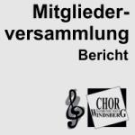 Artikelbild - Chor Mitgliederversammlung Bericht