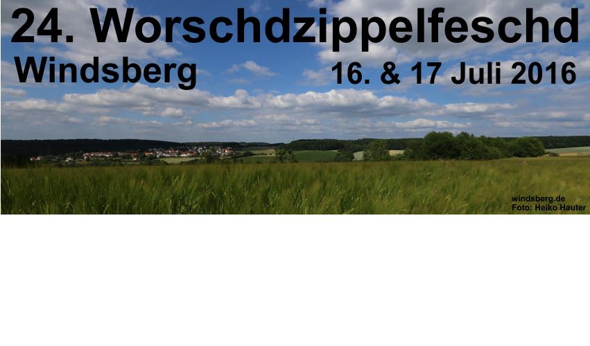 Titelbild Worschdzippelzeitung 2016 mit Werbung.