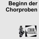 Artikelbild - Chor Beginn der Chorproben