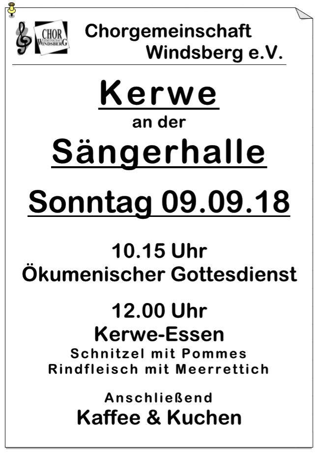 Chor - Kerwe 2018 Chorgemeinschaft Windsberg